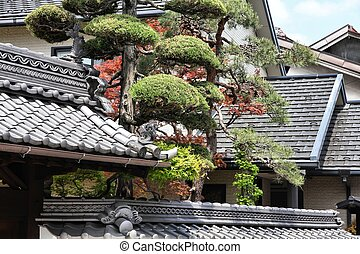 Architecture in Japan - Matsumoto, Japan - typical Japanese...