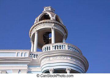 Cienfuegos - Cuba - colonial town architecture Old town of...