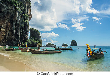 Tropical beach near Krabi, Thailand