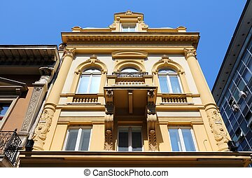 Belgrade, Serbia - old residential architecture in the...
