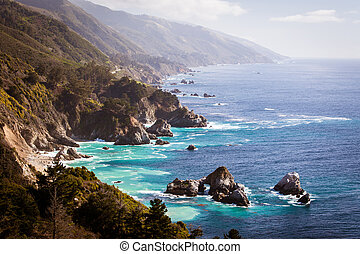 Big Sur View Along The Pacific Coastline - A view out to sea...