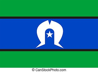 Flag Of Torres Strait Islander - 2D illustration of the flag...