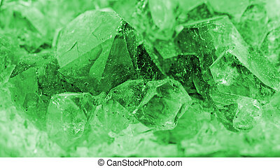 crystal macro photo in emerald color - Close up picture...