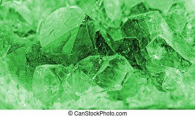 cristal, macro, foto, esmeralda, Color