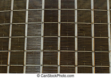 Cooling towers of a power plant - Details of a huge cooling...