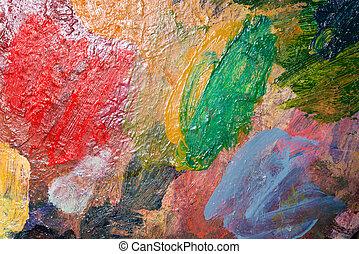 Painters palette closeup
