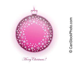 christmas ball - illustration of one christmas ball as...