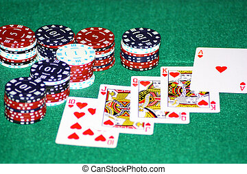 A winning hand - A hand of cards to take the pot