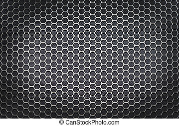 Sheet metal with lines of round holes
