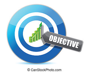 target successful objective illustration design over white