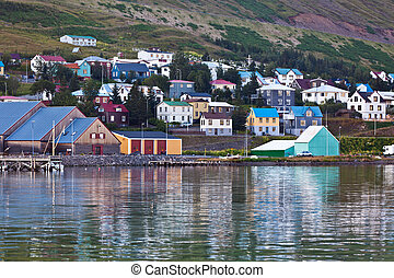 The town of Siglufjordur, the Northern part of Iceland...