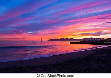 Magic Sunset in Cannes, Cote dAzur, France