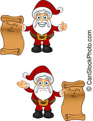 Santa Claus - Naughty & Nice List - A cartoon Santa...