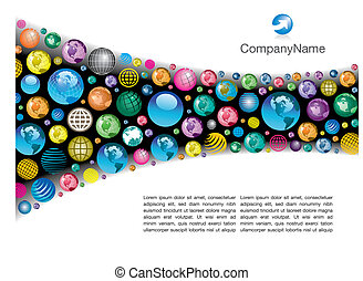 global vector page - A colorful, corporate global vector...