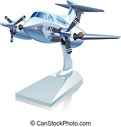 Vector Cartoon Airplane. Available EPS-10 vector format...