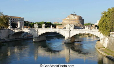 Castel San Angelo in the Distance - Sant Angelo fortress in...