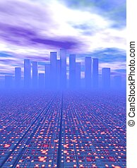 City Of The Future - background possible to use for printing...