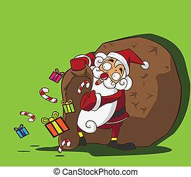 Santa Claus bag of gifts