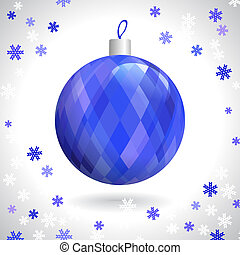 Christmas Ball - Multicolored Christmas Ball with Pattern of...