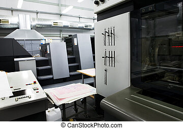 modern printing house - The equipment for a press in a...