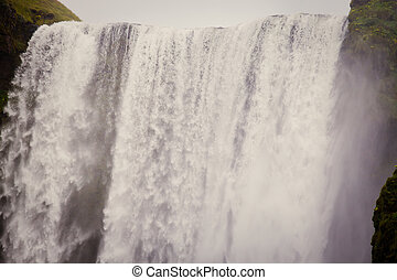 Icelandic Waterfall Godafoss - flow, most, fall, foss, land,...