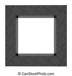 Abstract frame background aluminium