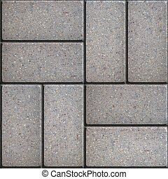 Paving Slabs. Seamless Tileable Texture. - Gray Pavement of...