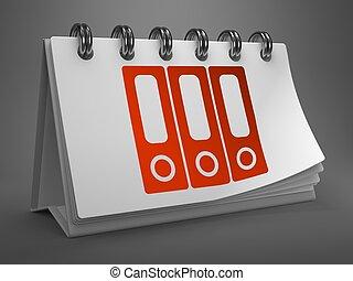 Desktop Calendar with Data Concept - Data Concept - Folders...