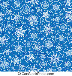 Falling Snowflakes Seamless Pattern Background - vector...