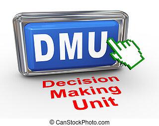 3d hand cursor - decision making unit button - 3d render of...