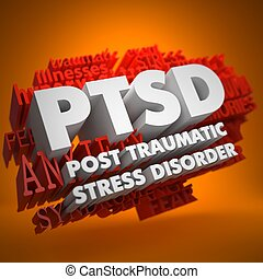 PTSD Concept - PTSD - Posttraumatic Stress Disorder - the...