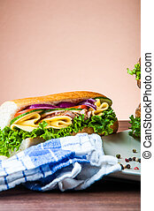 Light lunch with sandwich - Natural concept with sandwich