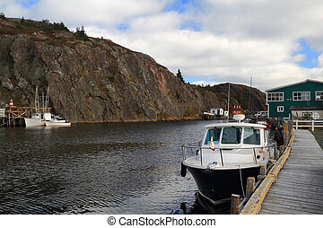 Almost empty docks for fishing boats in October - Quidi Vidi...