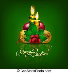 Elegant Christmas background with Christmas balls