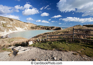 Lulworth Cove Dorset Coast England - Idilic Lulworth Cove...