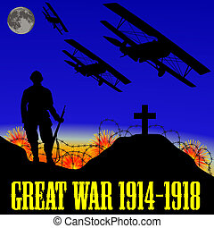 illustration of the First World War the Great War