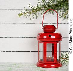 Christmas lantern on a white background