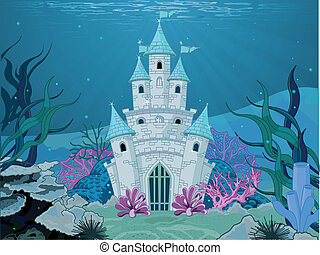 Mermaid Castle  - Magic Fairy Tale Mermaid Princess Castle