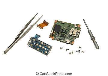 Electronic boards. - Electronic boards from a compact camera...