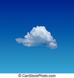 lonely cloud - blue sky with lonely cloud