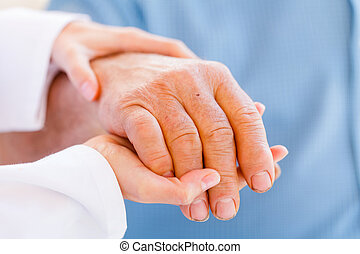 Elderly hands - Giving helping hands for needy elderly...