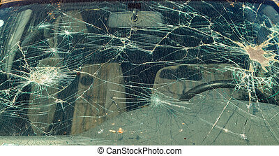 Broken windshield - Close up photo of a broken windshield