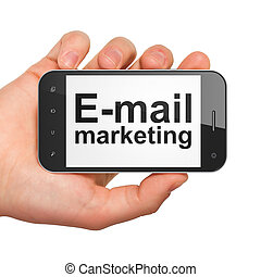 Advertising concept: E-mail Marketing on smartphone