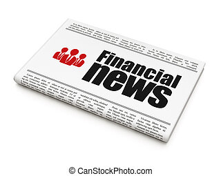 News news concept: newspaper with Financial News - News news...
