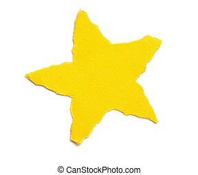 Paper Tear - Christmas Ornaments - Little star - A series of...