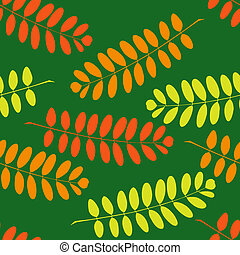 Seamless pattern with branches of acacia