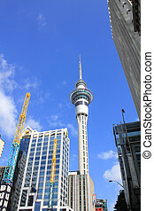 Sky tower in Auckland - AUCKLAND, NEW ZEALAND - OCTOBER 5 :...