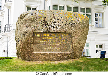 Memorial stone, Heiligendamm - Memorial stone for Friedrich...