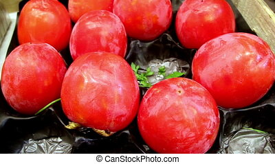 Healthy and nutritious ripe eco tomatoes - Healthy and...