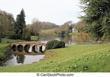 Stone bridge and folly 2 - Stone bridge and folly in garden